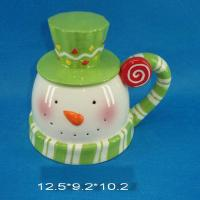 dolomite snowman cup w.cover for christmas deco