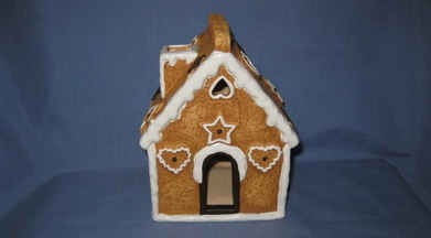 ceramic snow house windlight holder /TL holder deco