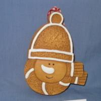 ceramic snowman biscuit deco for hanging