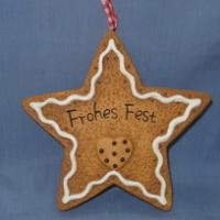 ceramic star biscuit deco for hanging