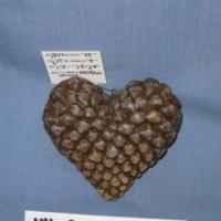 pinecone heart deco